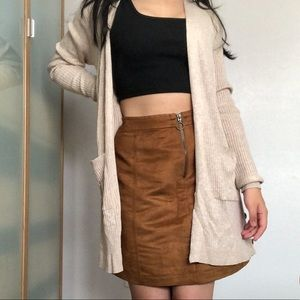 🍁 OLD NAVY Caramel Brown Suede Skirt 🍁